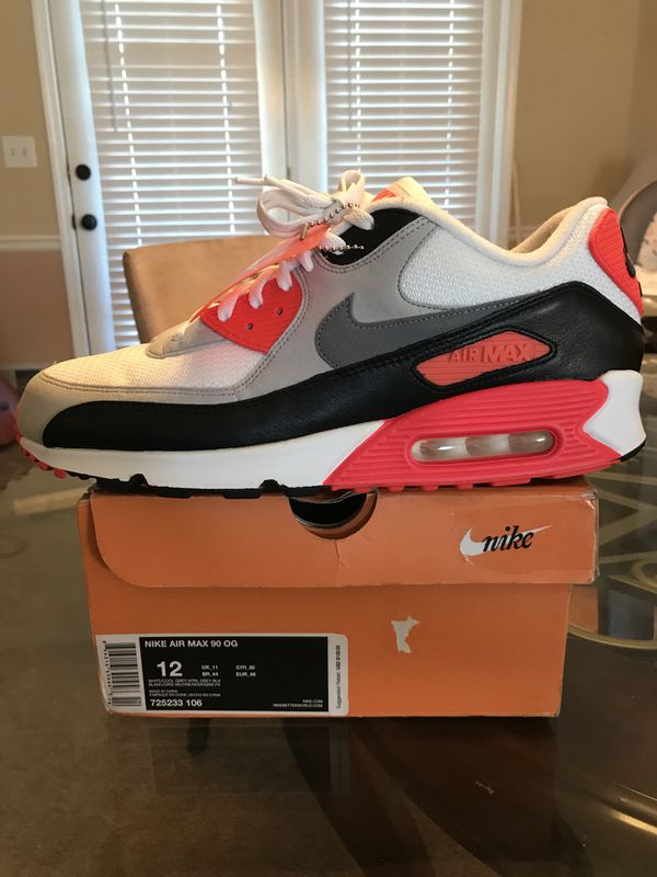 Nike Air Max 90 Infrared OG (2015) for Sale in Snellville, GA OfferUp