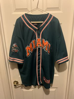 VINTAGE MIAMI HURRICANES BASEBALL JERSEY for Sale in Bowie, MD