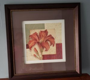 Wall picture flower. 38 × 38 for Sale in Moreno Valley, CA