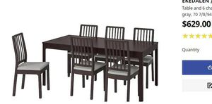 Dining table with 6 chairs for Sale in Bloomfield Hills, MI