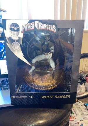 White Ranger Statue Pcs Collectibles Saban's Power Rangers Action Figure for Sale in Fort Washington, MD
