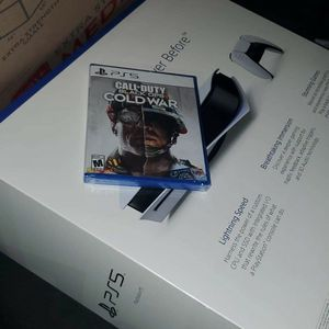 Sony Ps5 With Cod Cold War Verifiable for Sale in Rustburg, VA
