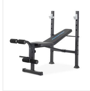 Adjustable standard weight bench with 100lb weight set for Sale in Renton, WA