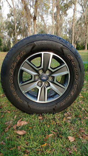 "18"" Ford F-150 Rims. Goodyear Wrangler Tires 275/65R18. for Sale in Lakeland, FL"