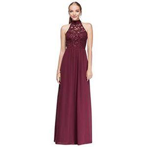 David's Bridal Burgundy Long Formal Dress ( size7) for Sale in Chula Vista, CA