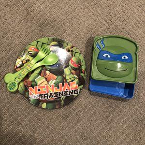 Ninja Turtles Plate Sandwich Box for Sale in Seattle, WA