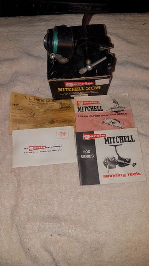 Vintage NICE ABU GARCIA MITCHELL FRANCE 206 SPINNING FISHING REEL 100% COMPLETE WORKING #209 for Sale in West Newton, PA