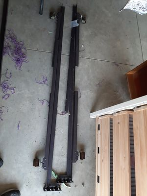 Queen size bed rails on wheels $20 free delivery for Sale in Newark, OH