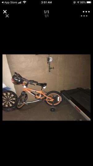 Kids bike with helmet for Sale in Overland, MO