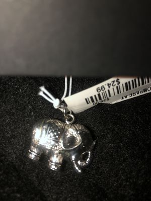 Cheap !! Real Sterling Silver Elephant Charm for necklace $20 for Sale in Queens, NY