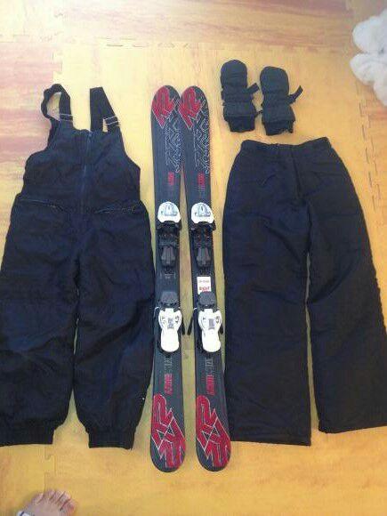 K2 boy ski w/ binding and clothing