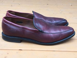 ALLEN EDMONDS 'STEEN' MEN'S USA HANDCRAFTED LEATHER SPLIT TOE DRESS LOAFERS 11 D for Sale in Puyallup, WA