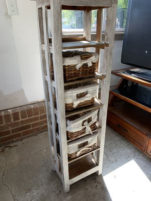 6 shelf unit with basket drawers for Sale in Charlotte, NC