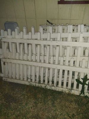 Free picket white fence and a fake tree for Sale in Stockton, CA