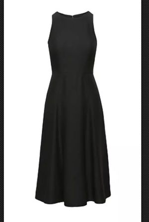 👗 Banana Republic S T R E T C H Fit and Flare Dress, 4, BLACK, Crew neck, Sleeveless, Invisible zipper at side, Fully lined, bra strap holders. Pit-P for Sale for sale  Hackensack, NJ