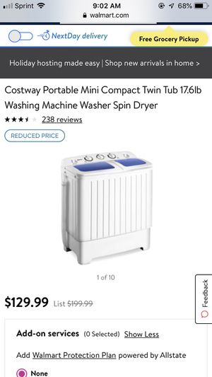 Costway portable washer & dryer- WORKS PERFECTLY for Sale in Anaheim, CA