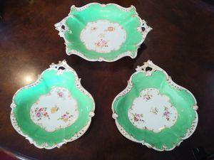 Set of 3 English Victorian Porcelain Shaped Dishes for Sale in Sarasota, FL