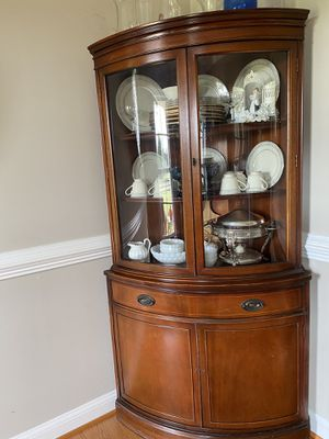 2 Antique china corner cabinets for Sale in Harwood, MD