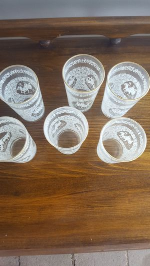6 old glasses for Sale in East Petersburg, PA