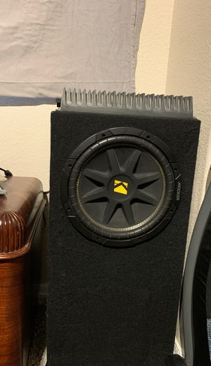 "Kicker comp 12"" Sub w/ Rockford Fosgate Power Amp for Sale in Mesa, AZ"