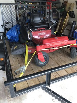 """54"""" Craftsman riding lawn mower. Trailer is not included. for Sale in Richmond, TX"""