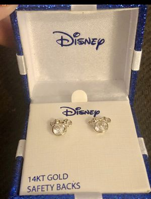 14 KT Gold Minnie Mouse Earrings for Sale in Stockton, CA