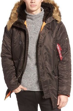 Alpha industries slim n-3b parka large military aviator pilot jacket coat rain outdoors huf supreme palace fuct ftp carhartt wip converse vans Nike t for Sale in Tacoma, WA