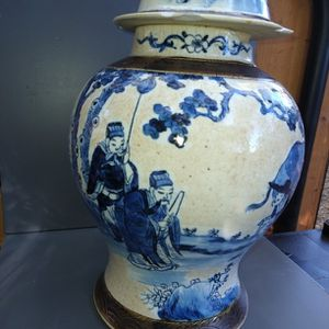 Rare Blue and White Porcelain Ginger Jar for Sale in Chico, CA