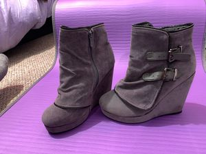 Lightweight Suede wedge booties / boots! Fall vibes autumn feels for Sale in San Diego, CA