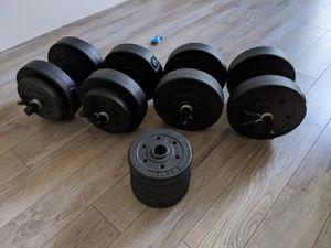 Gym weights dumbells for Sale in Santa Clara, CA