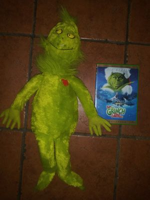 The Grinch who stole Christmas DVD movie and plush toy for Sale in Hawthorne, CA