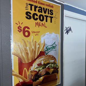 Travis Scott McDonald's Meal Poster for Sale in Anaheim, CA