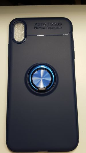 """Case for iphone xs max 6.5"""" blue soft new 7firm now ship out of the town for Sale in Phoenix, AZ"""