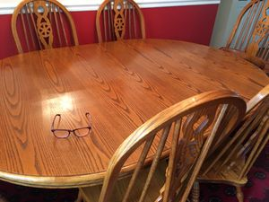 Dining room table with six chairs for Sale in Vienna, VA