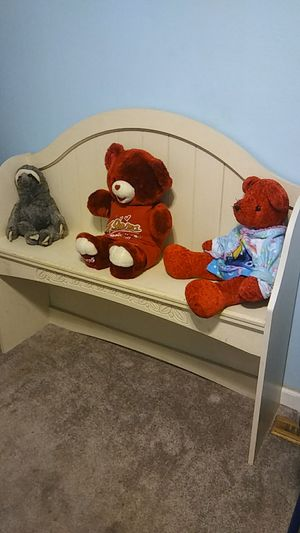 Ashley Furniture small bench/twin headboard/shelf for Sale in Chesapeake, VA