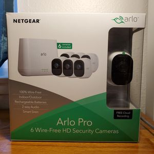 New NETGEAR Arlo Pro 6 Camera Wireless Security System for Sale in Rowland Heights, CA