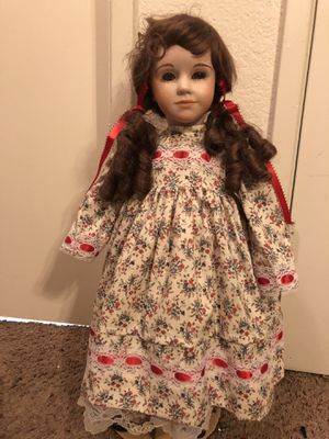 Antique Porcelain Doll with Stand for Sale in Fresno, CA