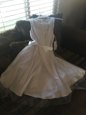 New dress for first communion or wedding ,party Larg size. for Sale in Salt Lake City, UT