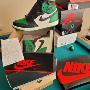 NIKE AIR JORDAN 1 PINE GREENS 1.0 BRAND NEW DS SZ 10.5 WITH RECEIPT for Sale in Albuquerque, NM