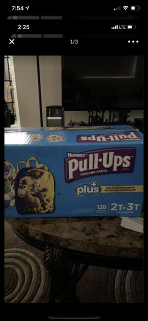 Huggies pull-ups 2t-3t 128 count free buzz backpack $35 for Sale in San Diego, CA