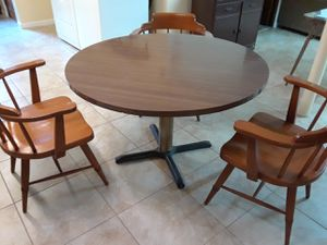 Kitchen table and 3 arm chairs for Sale in Ewing Township, NJ