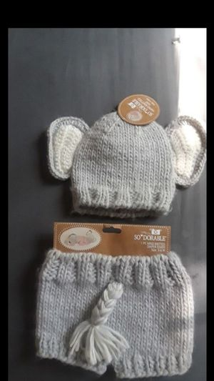 Hand knit hat and diaper cover for Sale in Acworth, GA