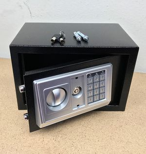 "(NEW) $40 Digital 12""x8""x8"" Security Safe Box Electric Keypad Lock Money Jewelry w/ Master Key for Sale in South El Monte, CA"