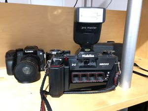 3D Vintage Camera w/ Promaster Flash (Nishika N8000) for Sale in Riverside, CA