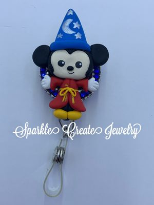 Mickey Mouse Clay Badge Reel for Sale in Los Angeles, CA