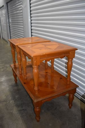 3 Piece Solid Wood Coffee Table Set for Sale in Sebastian, FL