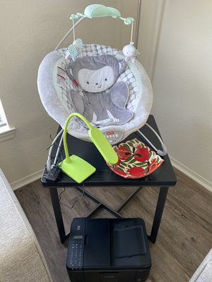 Bouncer, lamp, coffee table, dish, printer for Sale in St. Petersburg, FL