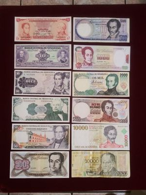 Old Venezuela Bolivares Notes / Bills / Banknotes for Sale in Pasadena, TX