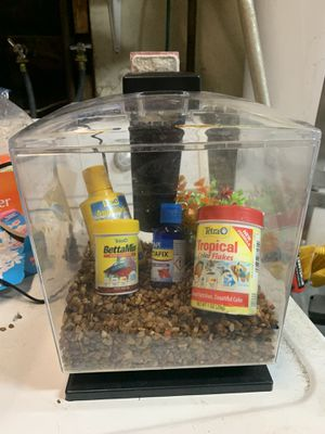 1 gallon Betta tank with light & filter for Sale in Santee, CA