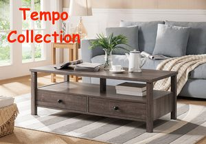 NEW IN THE BOX. DUTTO COFFEE TABLE, DISTRESSED GREY, SKU 151464CT, SKU# T161564CT for Sale in Santa Ana, CA